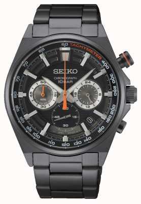 Seiko Cronografo cinturino in acciaio inossidabile nero SSB399P1