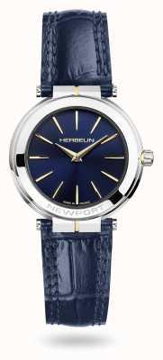 Michel Herbelin Orologio da donna con cinturino in pelle blu Newport quadrante blu 16922/T15BL