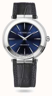 Michel Herbelin Orologio Newport slim 42mm con quadrante blu 1222/AP15
