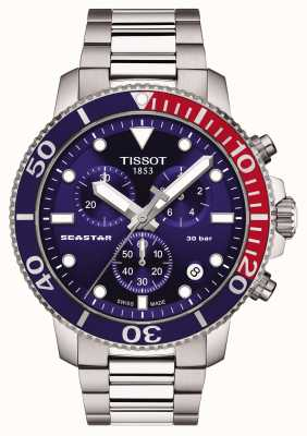 Tissot Seastar 1000 cronografo al quarzo blu T1204171104103