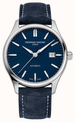 Frederique Constant Cinturino in pelle blu automatico da 40 mm con indice classico FC-303NN5B6