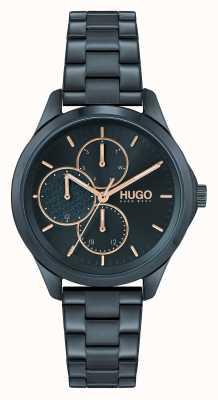 HUGO #fearless multi casual | quadrante blu | bracciale in acciaio ip blu 1540098
