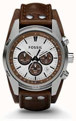 Fossil Sport Gents cronografo marrone orologio cinturino in pelle CH2565