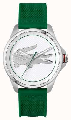 Lacoste Cinturino in silicone verde Le croc 43mm 2011157
