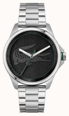 Lacoste Le croc quadrante nero bracciale in acciaio inossidabile 2011131
