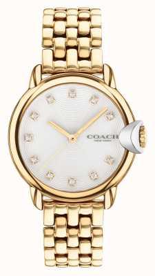 Coach Orologio da donna con bracciale placcato oro ardente 14503819