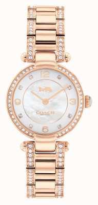 Coach Orologio con cristalli in oro rosa Cary 14503838