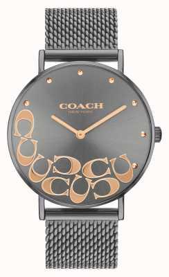 Coach Orologio da donna con bracciale in maglia grigia perry 14503825