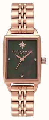 Olivia Burton Orologio con quadrante rettangolare celeste stella polare OB16GD80