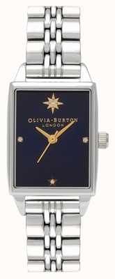 Olivia Burton Quadrante rettangolare in acciaio inossidabile con stella polare celeste OB16GD88