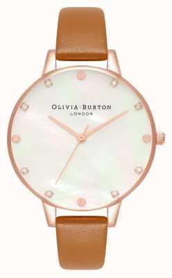 Olivia Burton Orologio Demi in madreperla con quadrante marrone chiaro e oro rosa OB16SE18