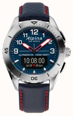 Alpina | alpinerx | smartwatch | cinturino in pelle blu | AL-284LNNR5SSAQ6L