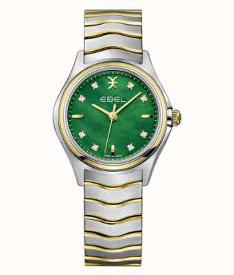 EBEL Set di diamanti bicolore Wave da donna in madreperla verde 1216440