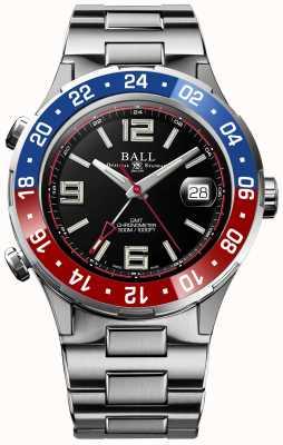 Ball Watch Company Roadmaster pilot gmt edizione limitata quadrante nero DG3038A-S2C-BK