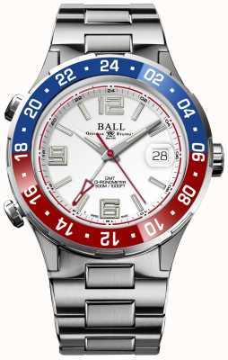 Ball Watch Company Roadmaster pilot gmt edizione limitata quadrante bianco DG3038A-S2C-WH