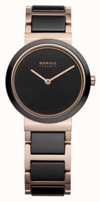 Bering Donna | oro rosa lucido | bracciale in oro nero e rosa 10729-746