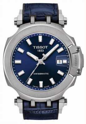 Tissot Swissmatic t-race | quadrante blu | cinturino in pelle blu T1154071704100
