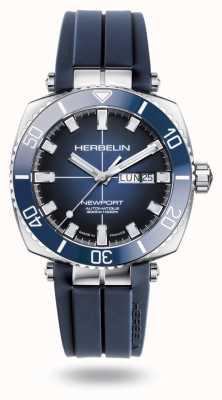 Michel Herbelin Newport diver cinturino in caucciù blu 1774/BL15CB