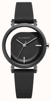 Klasse14 Cinturino in silicone nero da 32 mm con angolo imperfetto WIM19BK011W