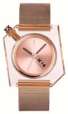Klasse14 K14 maglia milanese oro rosa 40mm WKF20RG001M
