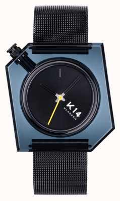 Klasse14 Bracciale K14 in maglia milanese nera 40mm scuro WKF20BK001M