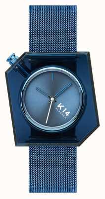 Klasse14 Bracciale K14 maglia milanese blu 40mm WKF20BE002M