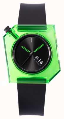 Klasse14 Cinturino in silicone nero K14 verde avo 40mm WKF19GN001M
