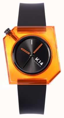 Klasse14 K14 Think arancione cinturino in silicone nero da 40 mm WKF19OE001M