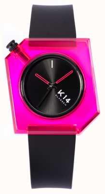 Klasse14 K14 bambola rosa cinturino in silicone nero da 40 mm WKF19PK001M