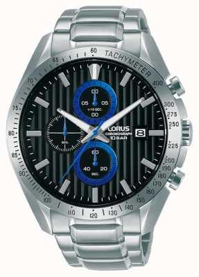 Lorus Orologio cronografo sportivo al quarzo con quadrante nero RM305HX9