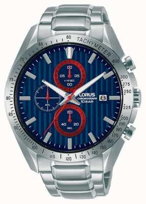 Lorus Orologio cronografo sportivo al quarzo con quadrante blu RM307HX9