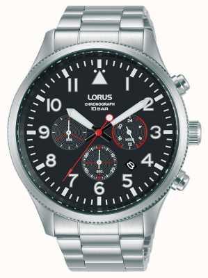 Lorus Cronografo al quarzo bracciale in acciaio inossidabile RT363JX9