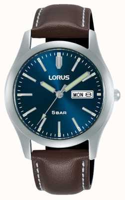 Lorus Orologio al quarzo classico 38 mm quadrante blu cinturino in pelle RXN81DX9