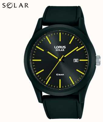 Lorus Cinturino in silicone nero per orologio solare da 42 mm RX301AX9