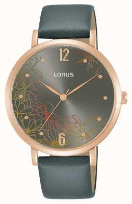 Lorus Cinturino in pelle 36 mm con motivo floreale da donna RG294TX9