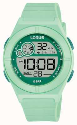 Lorus Orologio digitale cinturino in silicone verde menta R2369NX9
