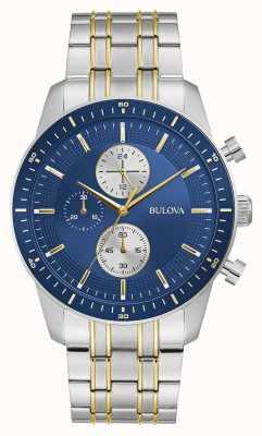 Bulova Sport classico | crono | quadrante blu | braccialetto bicolore 98A243