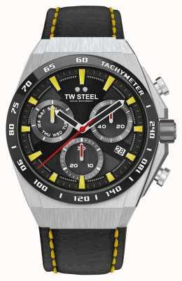 TW Steel Dettagli gialli dell'orologio Fast lane ceo tech in edizione limitata CE4071
