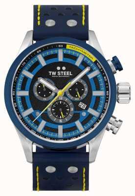 TW Steel Cinturino in pelle blu corsia veloce Volante SVS208