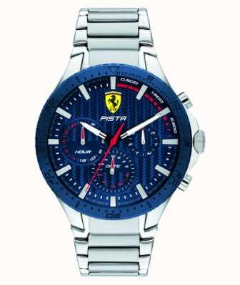 Scuderia Ferrari | pista dual track | quadrante blu strutturato | 0830855