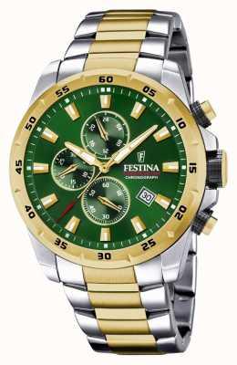 Festina Orologio cronografo da uomo con quadrante verde F20562/3