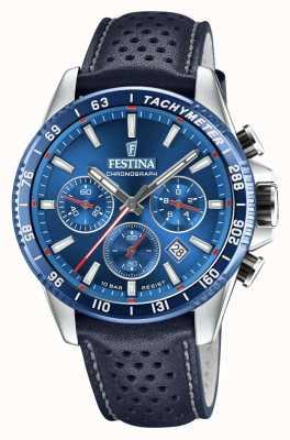 Festina Cinturino in pelle traforata blu cronografo F20561/3