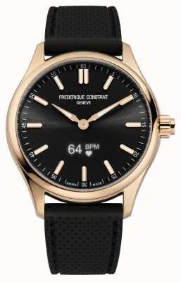 Frederique Constant Smartwatch vitalità uomo quadrante nero gomma nera FC-287BS5B4