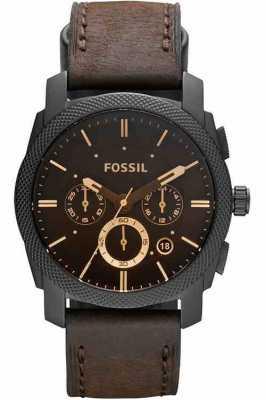 Fossil Mens vigilanza della macchina cronografo marrone FS4656