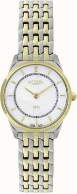 Rotary Vigilanza braccialetto ultra-sottile bicolore delle donne LB08001/02